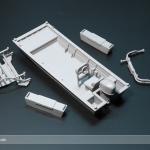 Barca rescale escala 1:87 impreso en Form 2 de Formlabs