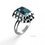 3d render of ring