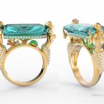 Mermaid Ring. Designed and modeled