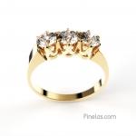 3 diamonds ring