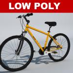 Low polygon 3d bike