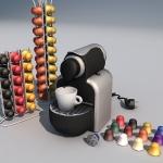 Low polygon 3d coffee machine
