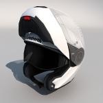 Low polygon 3d motorcycle Helmet
