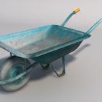 Low polygon 3d wheel barrow