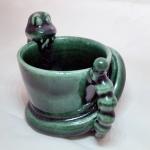 Snake cup printer in shapeways using porcelain material