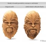3d model of chewbacca
