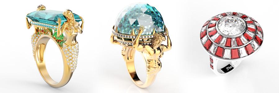 Jewelry pieces.